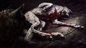 Фото Волки Кровь Злость Фантастика
