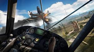Фото Самолеты Far Cry 5 Кабина пилота Полет Игры