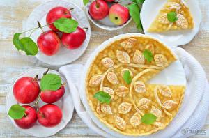 Фотографии Яблоки Пирог Дизайн Пища