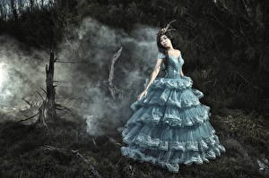 Фотография Азиаты Платье Красивые Девушки