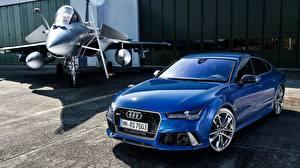 Фотография Audi Синий Седан Металлик Sportback, RS 7 машины
