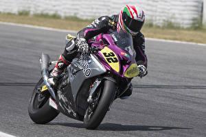 Картинки BMW - Мотоциклы Мотоциклист Скорость 2016-17 S 1000 RR Race Bike