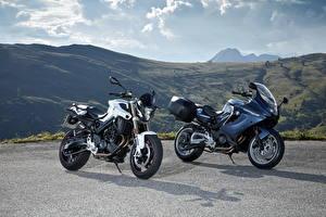 Картинки БМВ Вдвоем F Series Мотоциклы