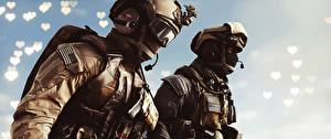 Обои Battlefield 4 Солдаты Американские Вдвоем Игры 3D_Графика