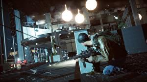 Фотография Battlefield 4 Солдаты Автоматы Игры 3D_Графика