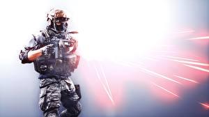 Картинка Battlefield 4 Солдаты Автоматы Американские 3D_Графика