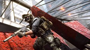 Обои Battlefield 4 Солдаты Автоматы Американские Игры 3D_Графика