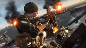 Картинка Battlefield 4 Солдаты Автоматы Американские Игры 3D_Графика