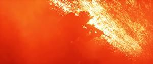 Фото Battlefield 4 Солдаты Пламя Американские Игры 3D_Графика