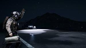Фотографии Battlefield 4 Солдаты Ночные Американские Игры 3D_Графика