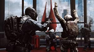 Фотография Battlefield 4 Солдаты Пистолеты Русские Игры 3D_Графика