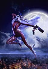 Фото Bayonetta Пистолет Ночь Луны Латекс Jeanne, Bayonetta, Umbra Witch Игры Девушки Фэнтези