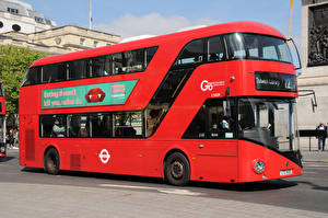 Картинка Автобус Красный