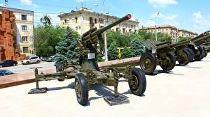Картинка Пушки Россия Волгоград Музей Российские 85 mm air defense gun M1939 (52-K)(obr 1939) Армия