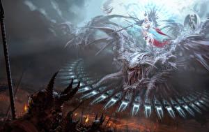 Обои Демоны Ангелы Сражения Игры Фэнтези