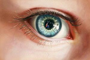 Картинка Глаза Рисованные Вблизи Ресница Смотрит