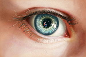 Картинка Глаза Рисованные Вблизи Ресницы Смотрит