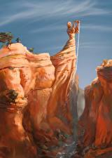 Фотография Фантастический мир Скульптуры Каньон Фантастика