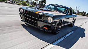 Обои Ford Черный Едущий Mustang 1965 Ringbrothers