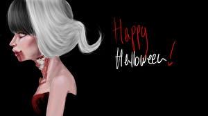 Фото Хеллоуин Готические Черный фон Кровь
