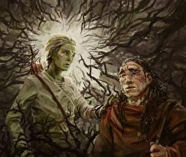 Картинка Иллюстрации к книгам Двое Ветвь Malazan Book of the Fallen, Azath, Tremorlor Фэнтези