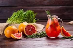 Обои Лимонад Грейпфрут Напиток Кувшин Еда