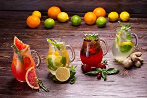Фотографии Лимоны Лимонад Грейпфрут Напитки Кувшин