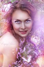 Фото Сирень Смотрит Galatea, the daughter of Nereus Фантастика Девушки