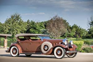 Картинка Lincoln Старинные Металлик Кабриолета 1932 Model KB Dual Windshield Phaeton by Brunn Автомобили