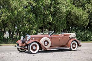 Обои Lincoln Ретро Кабриолета Металлик 1932 Model KB Dual Windshield Phaeton by Brunn машины