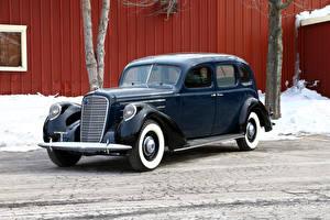 Фотографии Lincoln Ретро Синий Металлик 1937 Model K Limousine Автомобили