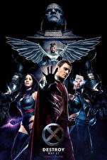 Обои Майкл Фассбендер Воители Люди Икс: Апокалипсис Storm, Magneto, Archangel, Psylocke Фильмы Знаменитости