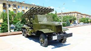 Картинка Ракетные установки Россия Волгоград Музей Российские BM-13 Katyusha