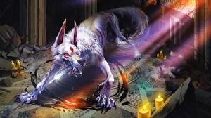 Картинка Монстры Свечи Лучи света