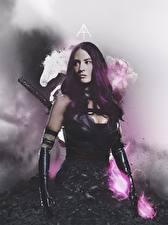 Фотографии Olivia Munn Люди Икс: Апокалипсис Psylocke Фильмы Девушки Знаменитости