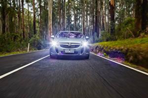 Картинка Опель Спереди Едущий Асфальт Insignia Holden VXR 2015 Авто