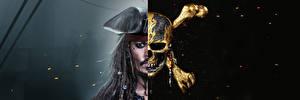 Картинки Пираты Карибского моря: Мертвецы не рассказывают сказки Джонни Депп Черепа Фильмы Знаменитости