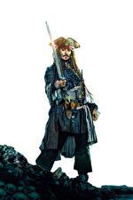 Картинки Пираты Карибского моря: Мертвецы не рассказывают сказки Джонни Депп Пираты Мужчины Кино Игры