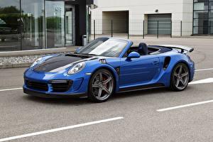 Фото Porsche Тюнинг Металлик Кабриолет Синий 2017 TopCar Porsche 911 Turbo Stinger GTR Авто