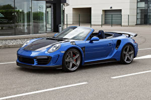 Фото Porsche Тюнинг Металлик Кабриолета Синих 2017 TopCar Porsche 911 Turbo Stinger GTR авто