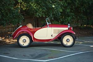Фото Старинные Сбоку Металлик 1932 American Austin Roadster Авто