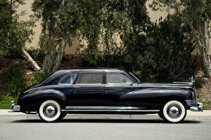 Фото Ретро Черный Металлик Сбоку 1946 Packard Custom Super Clipper Limousine Авто