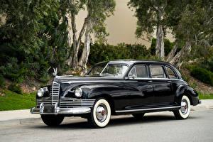 Картинка Старинные Черный Металлик 1946 Packard Custom Super Clipper Limousine Машины