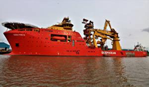 Картинки Корабли Море Красный Edda Freya
