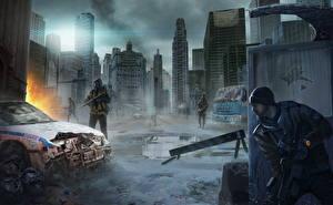 Картинка Солдаты Tom Clancy Небоскребы The Division Игры
