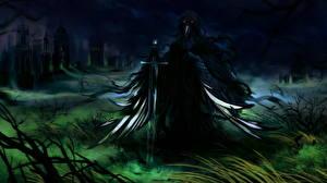 Фото Сверхъестественные существа Готика Фэнтези Мечи Ночные Фантастика