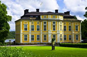Фото Швеция Замки Газон Venngarn Castle Города