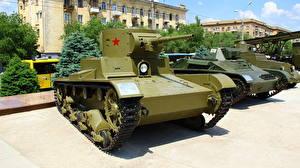 Картинка Танки Россия Волгоград Русские Музей T-26 Армия