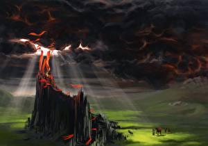Фотографии Тучи Лучи света The altar of the Red God