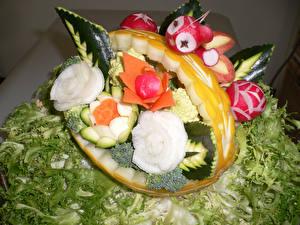 Фотографии Овощи Редис Розы Дыни Дизайн Пища